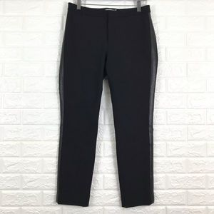 Vince Pants - Vince Side Stripe Trouser Pants In Black 8